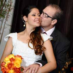 Golden registra o casamento de Rodolfo e Karisa