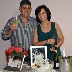 Ronaldo e Clélia celebram bodas de prata