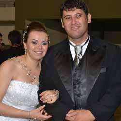 Comemoração do casamento de Telma e Ronaldo