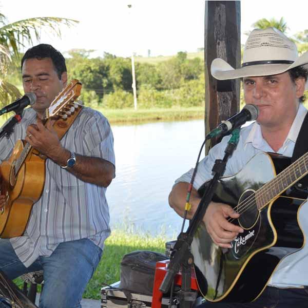 Tarde de domingo foi de muita música no Pesqueiro Dona Maria