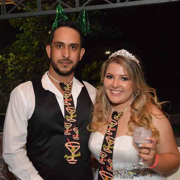 Elisangela e Edson comemoram união