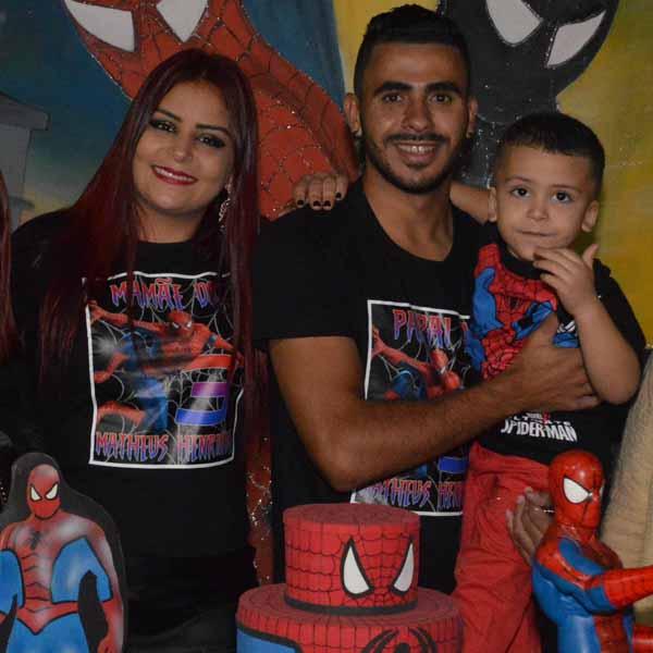 Matheus Henrique comemora 3 aninhos com festa do Homem Aranha