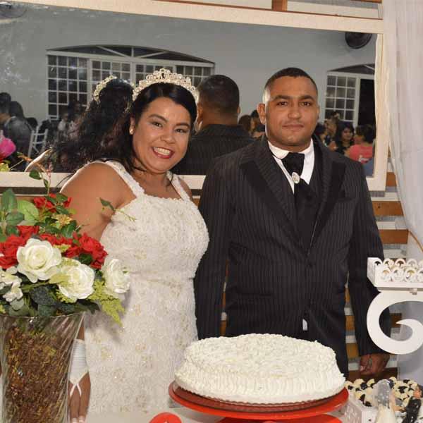 Antonio Carlos e Nilma Guimarães se tornam marido e mulher