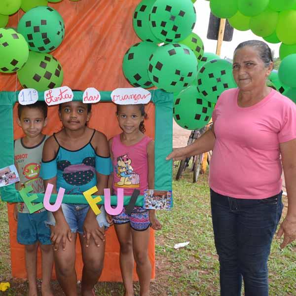 Mais um ano, crianças ganham festa na Praça Pascoal Matheus