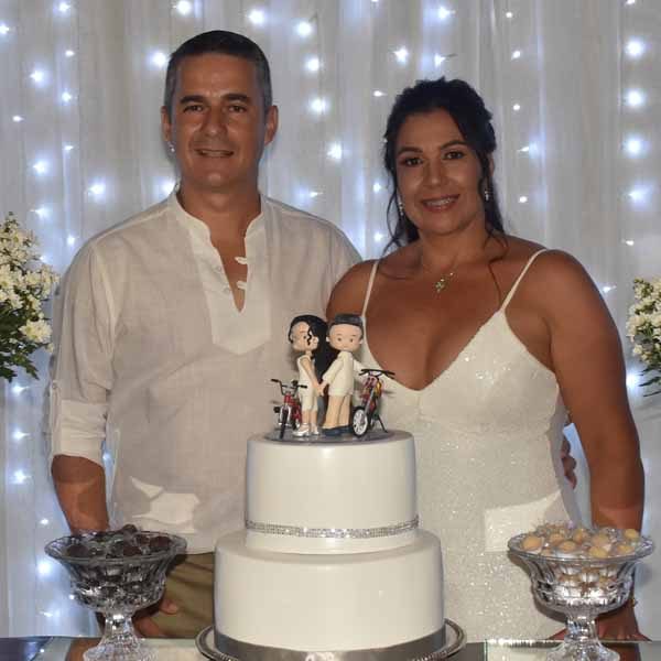 Carlos e Andreza celebram Bodas de Prata