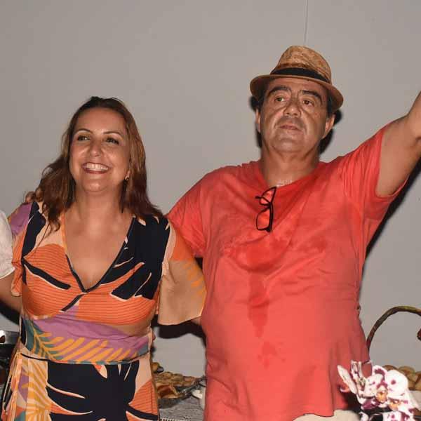 Aniversário em dose dupla: Osvaldo e Laisa Mattos.