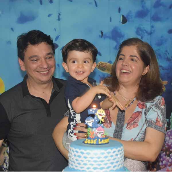 Lucas ganha festa no seu aniversário de 2 anos