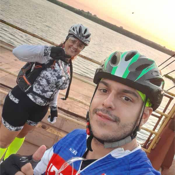 Grupo de Ciclistas. Os sem Freios, fazem passeio até São Miguel Arcanjo.