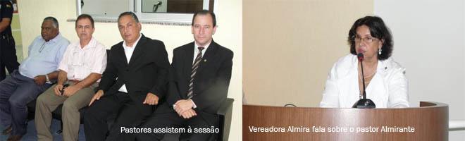 Pastor Almirante será homenageado pela Câmara