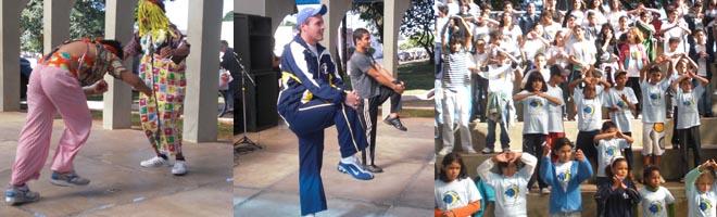 Ginástica, apresentações de circos entre outros marcaram o inicio do Dia do Desafio