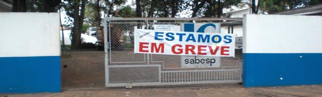 Funcionários da Sabesp retomam greve