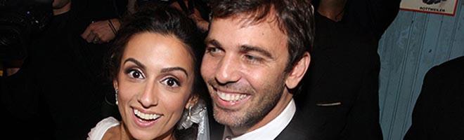 Marcelo Faria casa com Camila Lucciola, no Rio