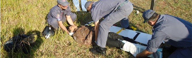 Acidente deixa um ferido na Rod. Com. Hissagy Marubayashi