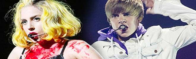 Lady Gaga e Justin Bieber brilham no MTV Europe Music Awards