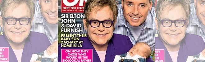 Elton John apresenta seu filho, Zachary Jackson