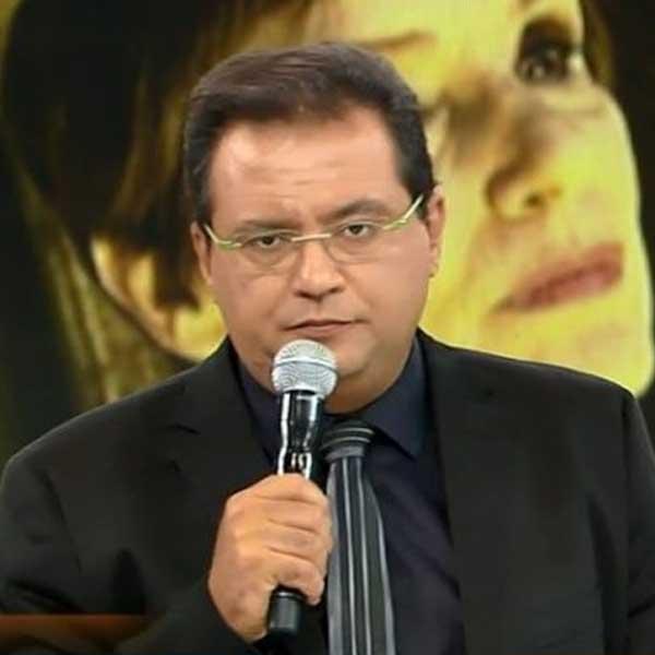 Geraldo Luís perde programa ao vivo, usa preto na Record e manda indiretas