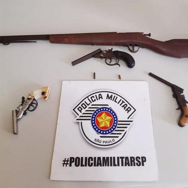 Homem atira em vizinho e é preso por tentativa de homicídio e posse ilegal de arma de fogo