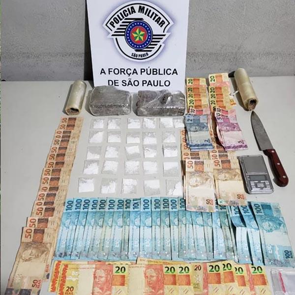 Homem é preso suspeito de fazer 'delivery' de drogas em Assis
