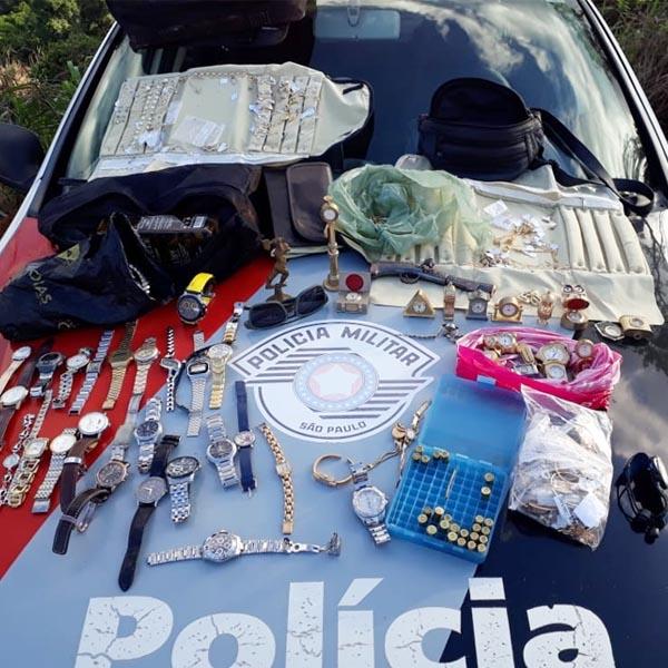 PM recupera cerca de R$ 300 mil em joias roubadas em Rancharia