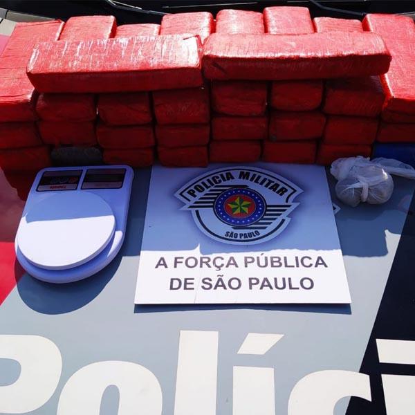 Polícia encontra mais de 20 tijolos de maconha dentro de geladeira em Assis