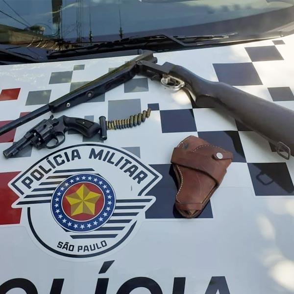 Após denúncia, Polícia Militar apreende armas de fogo e munições em Rancharia