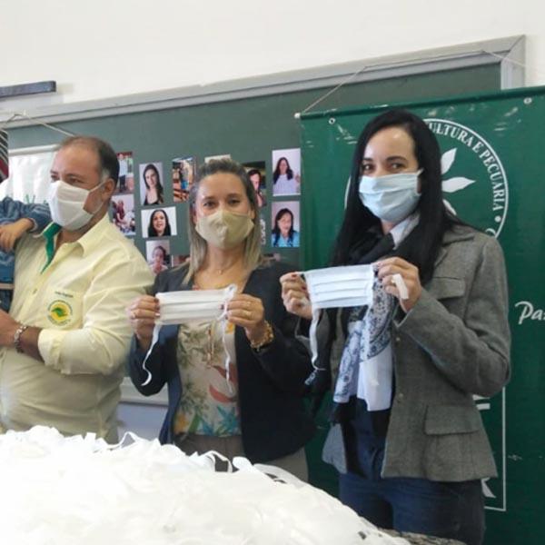 Em parceria, Assistência Social e Sindicato Rural Patronal entregam  12 mil máscaras