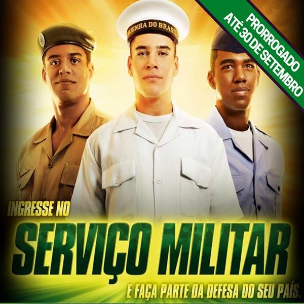 Novo prazo para alistamento ao serviço militar obrigatório vai até 30 de setembro