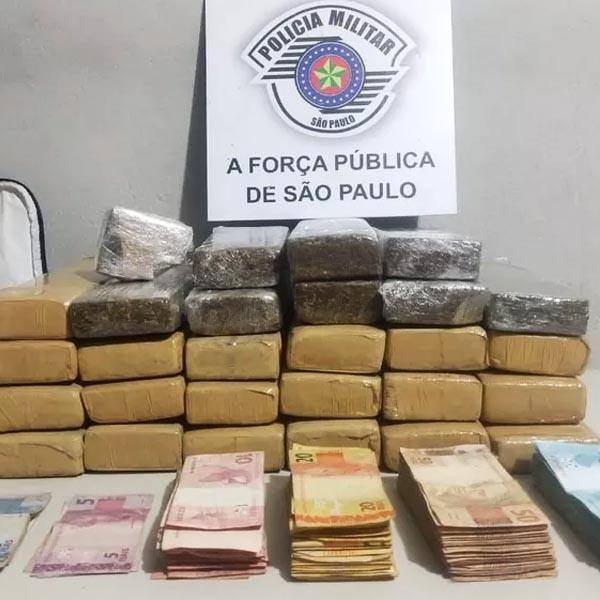 Homem é preso com quase 15 quilos de maconha e cerca de R$ 17,8 mil em dinheiro, em Assis
