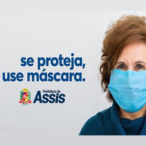 Assis multará quem não usar máscara; valor é de R$ 500,00 a R$ 5 mil
