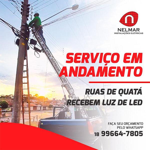 Nelmar: Empresa paraguaçuense é especializada em iluminação pública