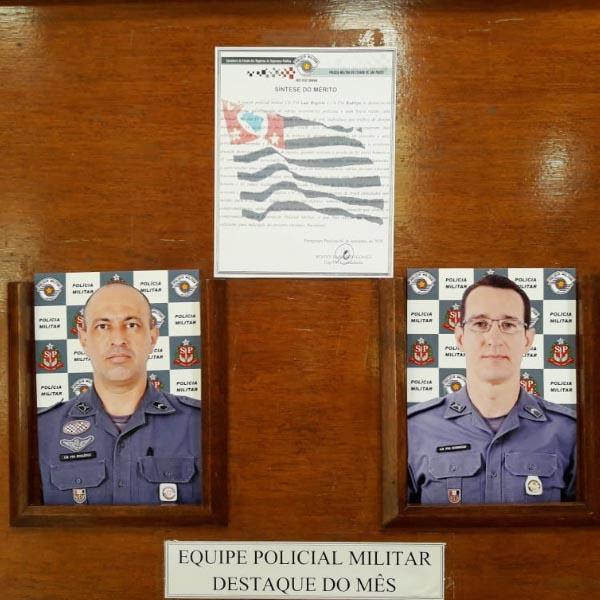 Equipe policial é homenageada após destaque em várias ocorrências policiais
