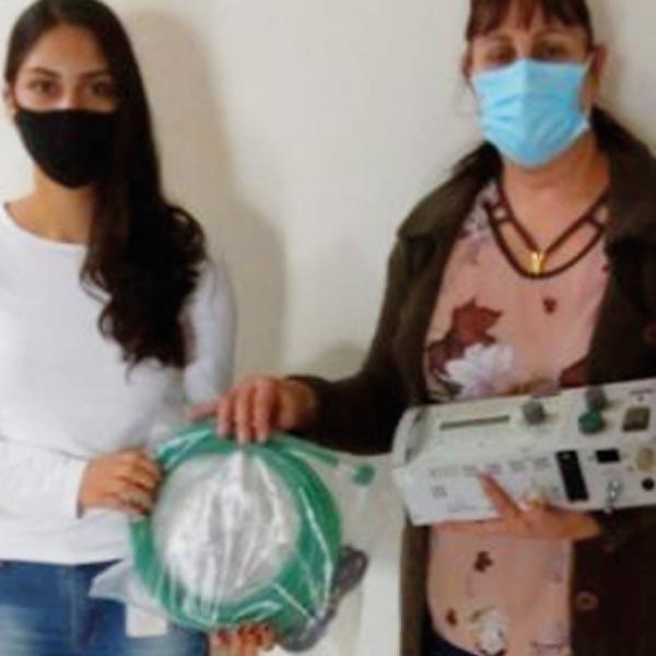 Zilor doa ventilador pulmonar de transporte para Quatá