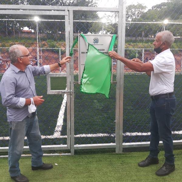 Campo de futebol society é interditado após quatro dias da sua inauguração em Borá