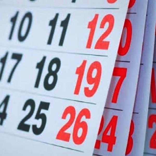 Governo divulga feriados e pontos facultativos de 2021