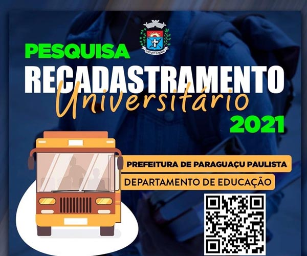 Prefeitura de Paraguaçu lança pesquisa sobre reembolso universitário