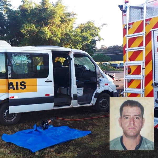 Motorista morre após colisão entre van e carreta em Paraguaçu Paulista