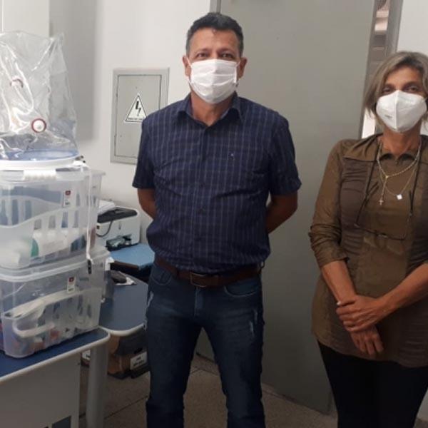 Saúde de Quatá recebe doação de 'capacetes-respiradores' para pacientes com Covid-19