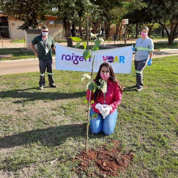 Raízen realiza ação de plantio de árvores em Paraguaçu Paulista