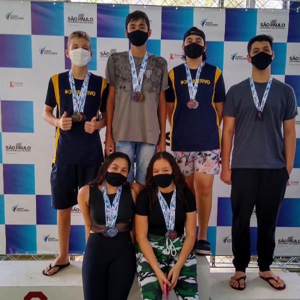 Nadadores de Paraguaçu Paulista participam de seletiva dos Jogos Escolares do Estado de São Paulo
