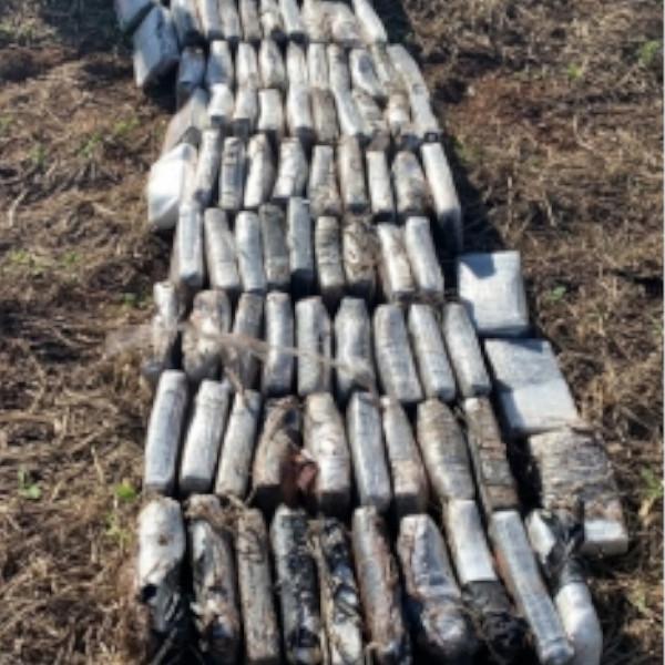 Helicóptero que caiu na Fronteira estava carregado com 246 quilos de cocaína